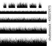 seamless grass silhouettes.... | Shutterstock .eps vector #400375975