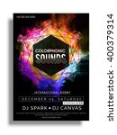 colorful party flyer  musical... | Shutterstock .eps vector #400379314