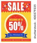 sale poster  sale banner  sale... | Shutterstock .eps vector #400379335