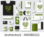 corporate identity template set.... | Shutterstock .eps vector #400380121