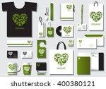 corporate identity template set.... | Shutterstock .eps vector #400380121