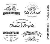 set of vintage road bicycle... | Shutterstock .eps vector #400381681