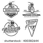 set of vintage road bicycle... | Shutterstock .eps vector #400382644