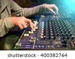 professional audio mixing... | Shutterstock . vector #400382764