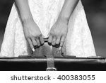 a young woman with a suitcase... | Shutterstock . vector #400383055