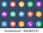 miscellaneous icons flat | Shutterstock .eps vector #400385191