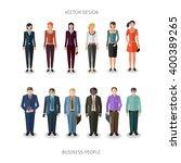 collection of twelve people... | Shutterstock .eps vector #400389265
