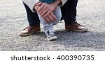 two pairs of legs  child and... | Shutterstock . vector #400390735