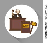law and justice icon design ... | Shutterstock .eps vector #400394461