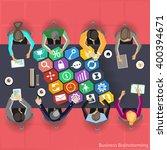businessman brainstorming | Shutterstock .eps vector #400394671