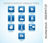 water pumps of various types. | Shutterstock .eps vector #400394719