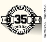 35 years anniversary logo... | Shutterstock .eps vector #400395661