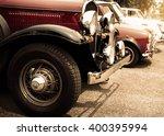 Detail Of Front Vintage Car...