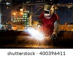 industrial worker at the... | Shutterstock . vector #400396411