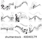 musical designs sets with... | Shutterstock .eps vector #40040179