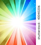 festive rays with many stars.... | Shutterstock .eps vector #40040206