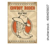 cowboy rodeo poster.western... | Shutterstock .eps vector #400405837