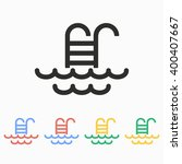 pool   vector icon.... | Shutterstock .eps vector #400407667