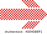 direction sign. halftone dotted ... | Shutterstock .eps vector #400408891