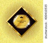 vector luxury vintage... | Shutterstock .eps vector #400410535