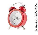 red bell clock  alarm clock ... | Shutterstock . vector #400413334