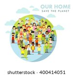planet earth people concept.... | Shutterstock .eps vector #400414051