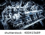 the powerful engine of a car | Shutterstock . vector #400415689