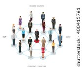 group of standing frontal... | Shutterstock .eps vector #400415761