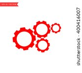 gears icon  options sign | Shutterstock .eps vector #400416007