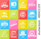 illustration set summer... | Shutterstock .eps vector #400421155