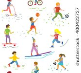people and sport seamless...   Shutterstock .eps vector #400422727