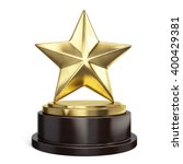 gold star trophy award isolated ... | Shutterstock . vector #400429381