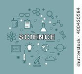 science minimal outline icons ... | Shutterstock .eps vector #400430584
