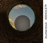 3d illustration of a golf ball... | Shutterstock . vector #400431379