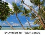 beautiful beach in guam | Shutterstock . vector #400435501