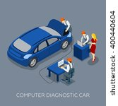 auto service computer car... | Shutterstock .eps vector #400440604
