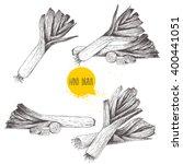 hand drawn sketch style fresh... | Shutterstock .eps vector #400441051