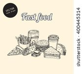 vector fast food background....   Shutterstock .eps vector #400445314