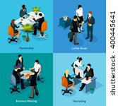 business people isometric icon... | Shutterstock .eps vector #400445641