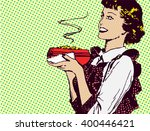 old fashioned vector housewife... | Shutterstock .eps vector #400446421