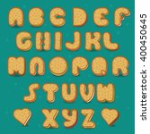 sweet font. cookies with... | Shutterstock . vector #400450645