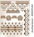 set of embroidered lace design... | Shutterstock .eps vector #40045144