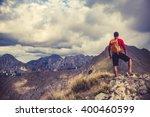 Hiking Man  Climber Or Trail...
