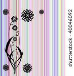 abstract vector flowers... | Shutterstock .eps vector #40046092