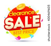 sale banner  badges  design... | Shutterstock .eps vector #400469605