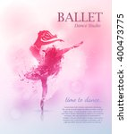 Ballerina In Dance. Vector...