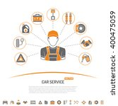 car service concept icons for... | Shutterstock .eps vector #400475059