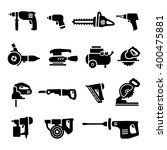 power tool   set icons | Shutterstock .eps vector #400475881