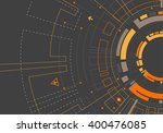 abstract orange colored... | Shutterstock .eps vector #400476085