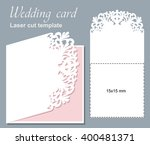 vector die laser cut wedding... | Shutterstock .eps vector #400481371